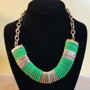 Jewelry - Gold/Green Statement Necklace